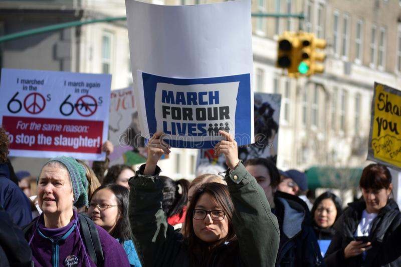 March for our Lives Manhattan royalty free stock photos