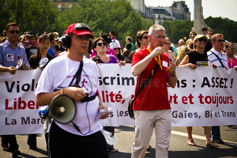 Download People Marching During Gay Pride Paris 2010 Editorial Photo - Image: 14899141