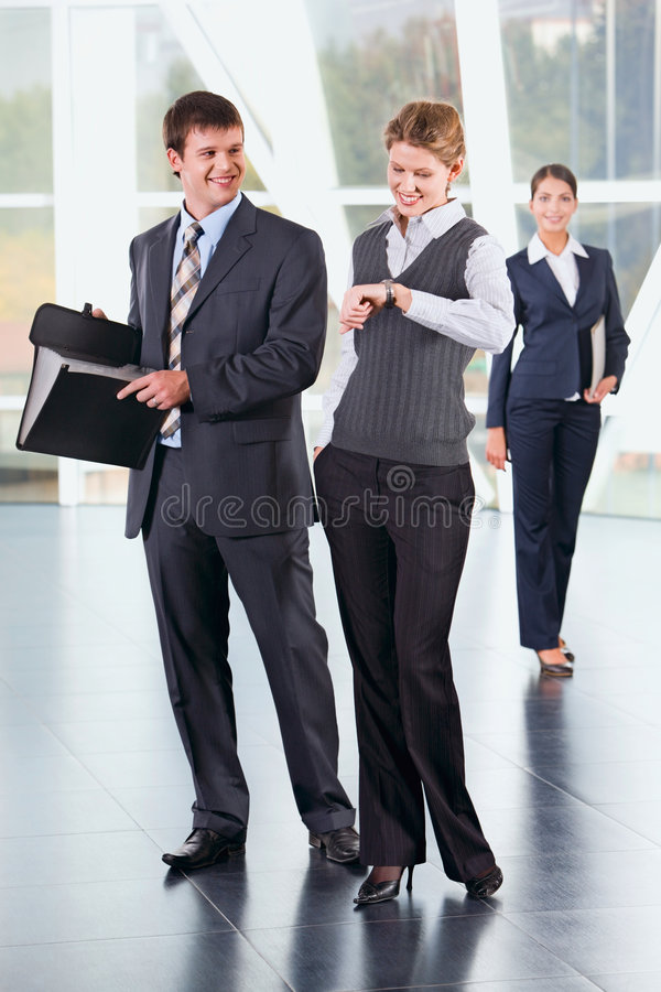 People at meeting stock image