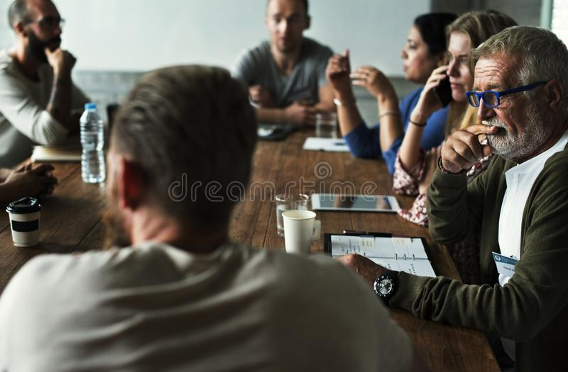 People Meeting Seminar Office Concept stock photos