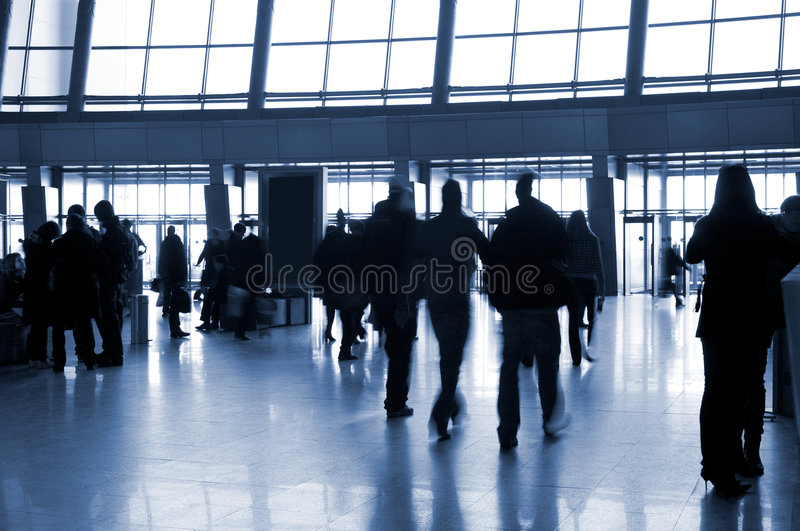 Download People In A Modern Architectural Interior Stock Photo - Image of metal, light: 9140494