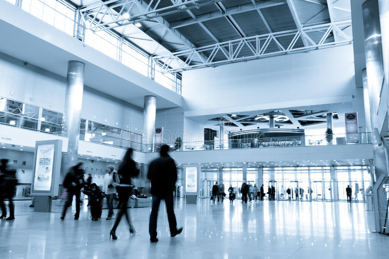 Download People In Modern Business Centre Hall Stock Image - Image: 21412555