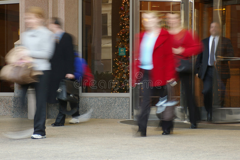 People in motion royalty free stock photography