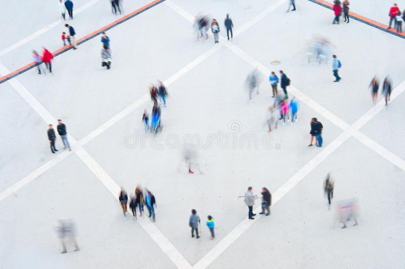 Download People Motion Blur Aerial View Stock Photo
