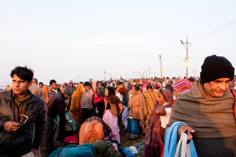 People movement at Kumbh Mela stock photos
