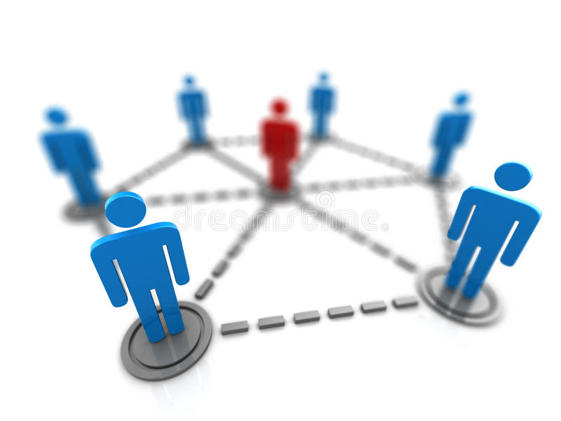 People network royalty free illustration