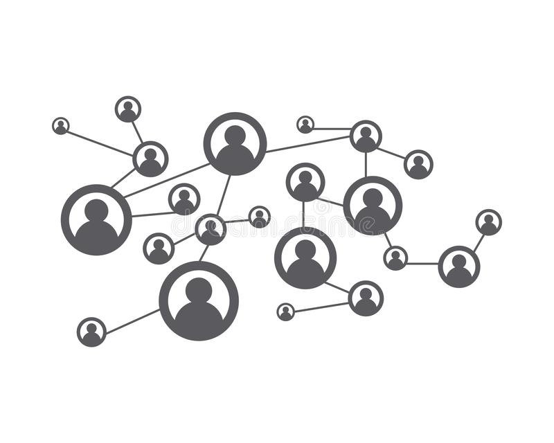 People Network and social icon stock illustration