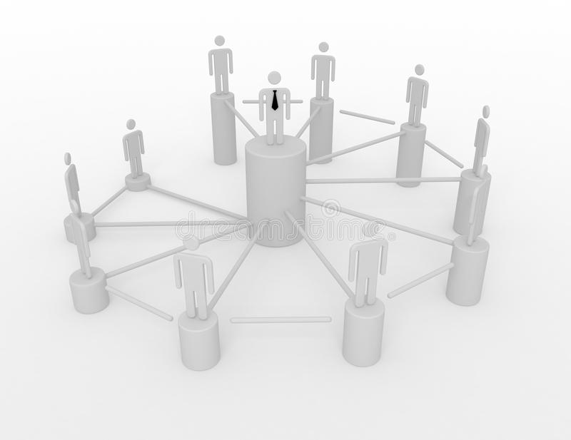 People in a networked crowd. stock illustration