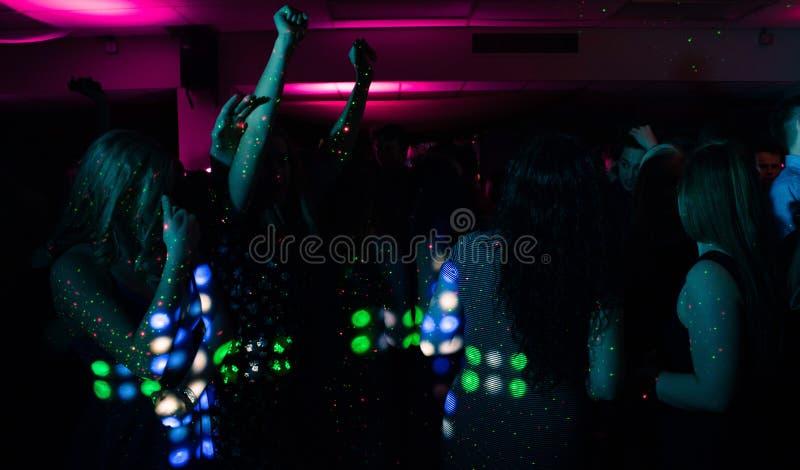 People in nightclub stock images