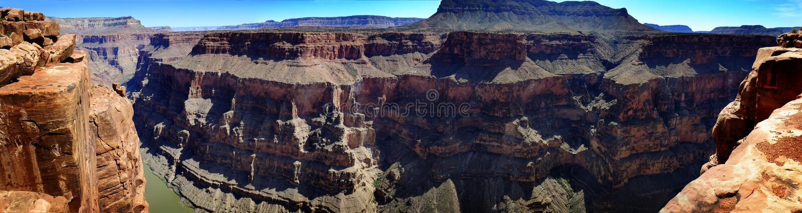 People at the North Rim of Grand Canyon Gorge royalty free stock photography