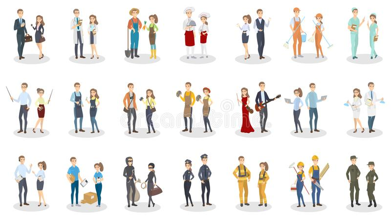 People occupation set. stock illustration