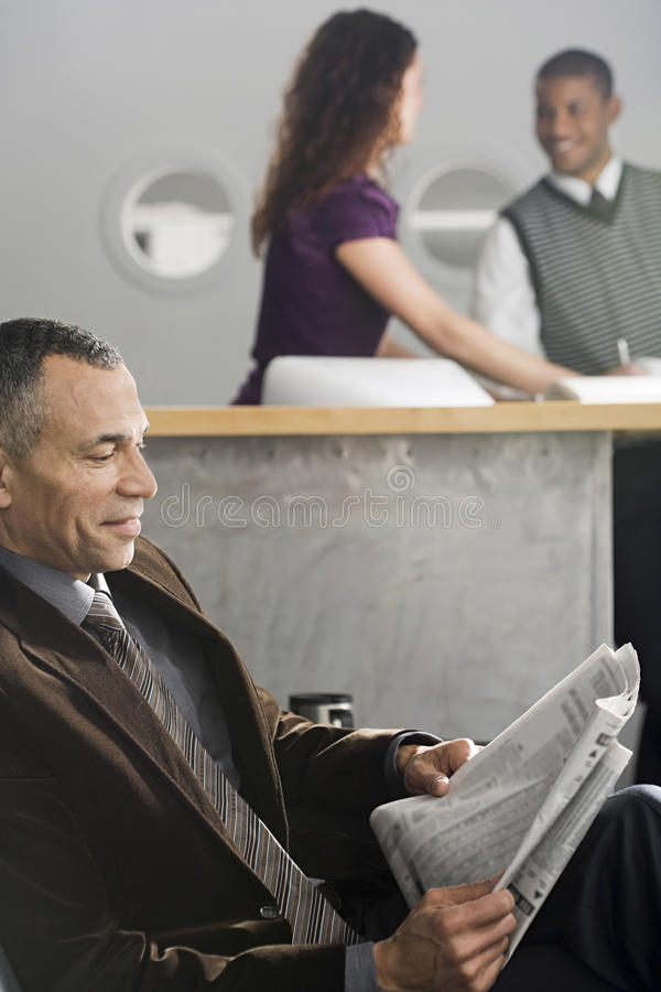 People in an office stock photography