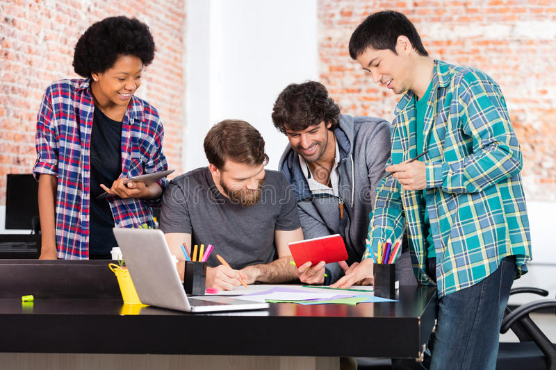 People office diverse mix race group businesspeople royalty free stock photo