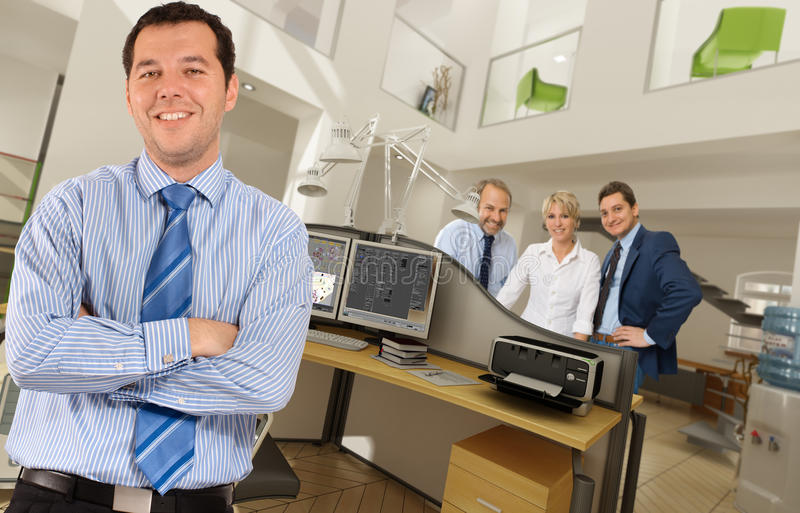 People at the office. People in a modern beautiful office stock images