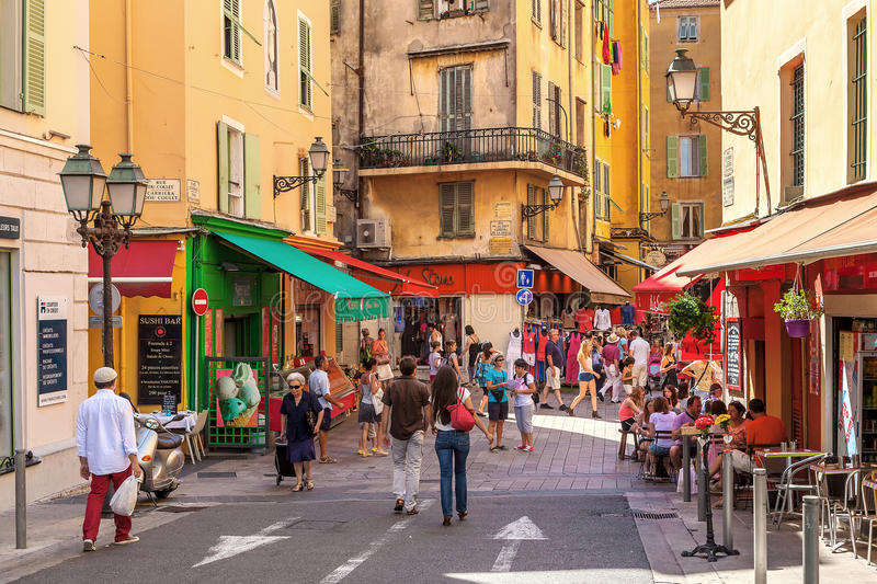 Download People In Old City Of Nice, France. Editorial Stock Image - Image of dazur, people: 68933534