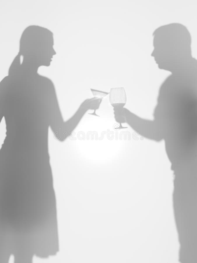 Download People Olding Glasses, Silhouettes, Cheers Stock Photography - Image: 29160192