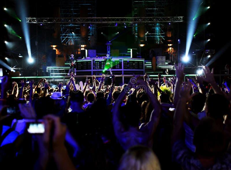 Download People In Outdoor Nightclub Stock Photo - Image: 15667836