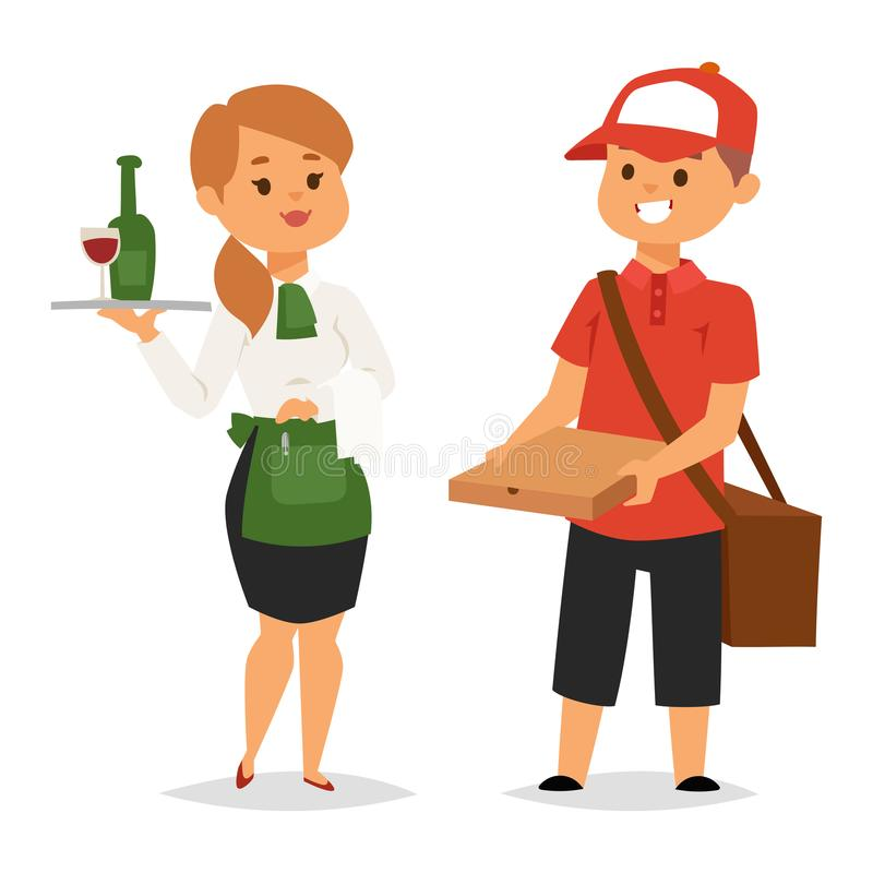 People part-time job professions vector set characters temporary job recruitment concept. Different workers or time vector illustration