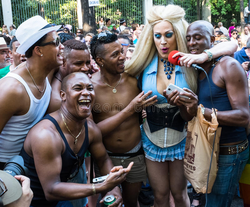Download People Participating At The Gay Pride Parade In Madrid Editorial Image - Image: 32094055