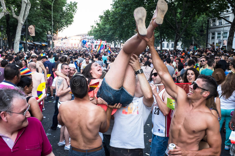 Download People Participating At The Gay Pride Parade In Madrid Editorial Image - Image: 32094145