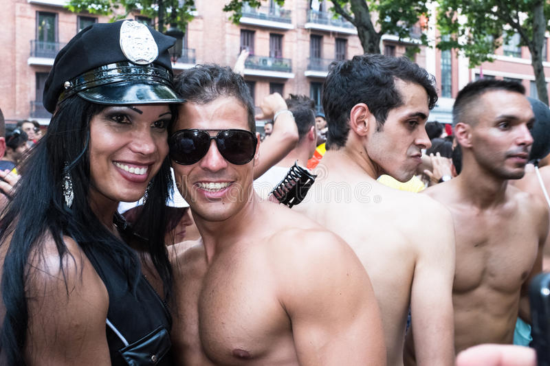Download People Participating At The Gay Pride Parade In Madrid Editorial Photography - Image: 32094192