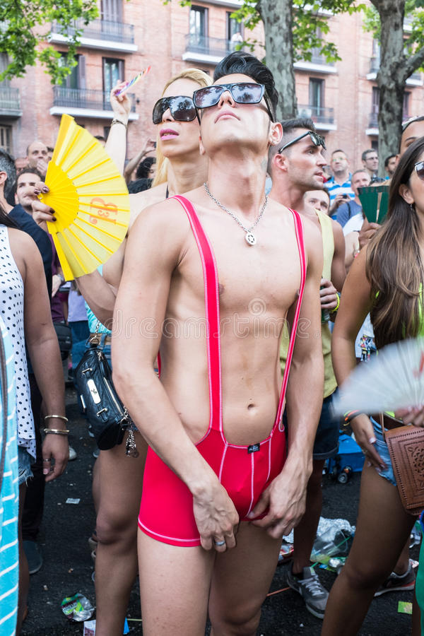 Download People Participating At The Gay Pride Parade In Madrid Editorial Photo - Image: 32094241