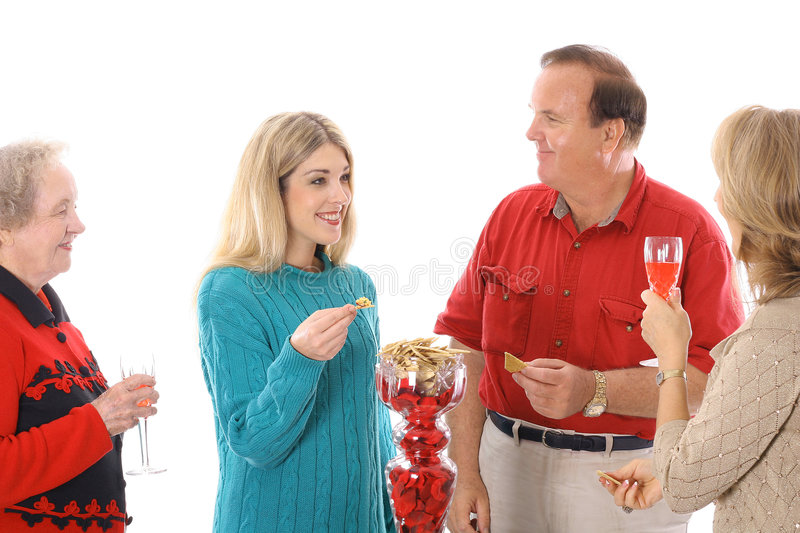 People At A Party Stock Image
