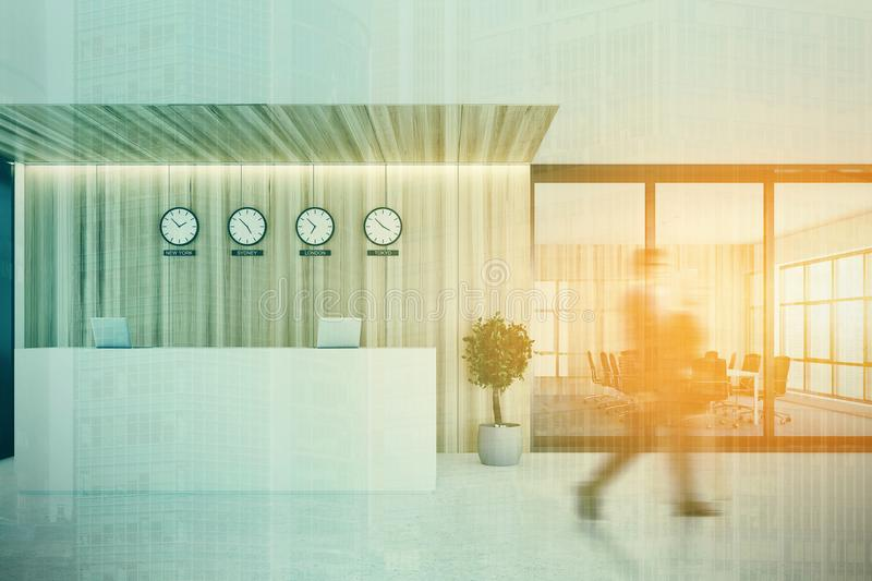 Reception Near A Meeting Room, Front Double Stock Photo - Image of ...