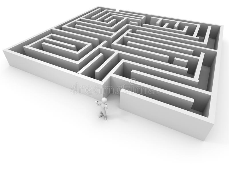 Download People past the maze stock illustration. Image of corridor - 11483325