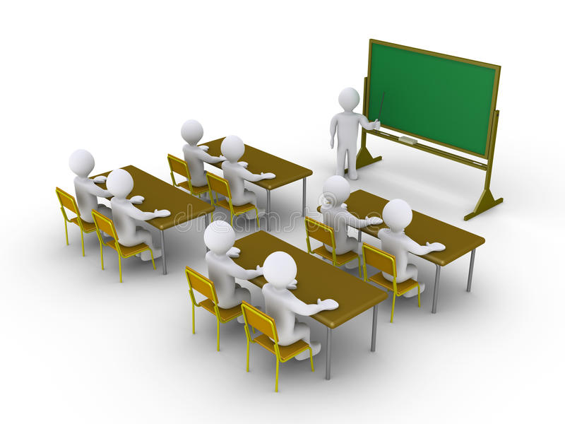 Download People Paying Attention To The Classroom Stock Illustration - Image: 30424640