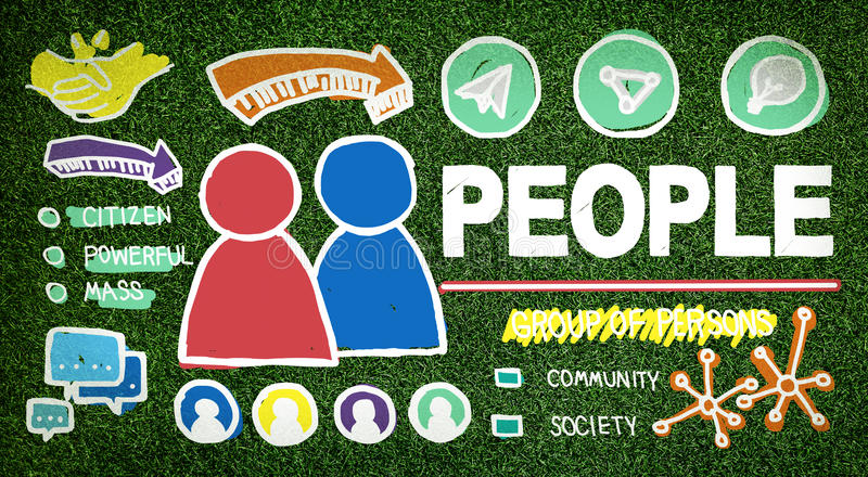 People Person Group Citizen Community Concept.  royalty free illustration