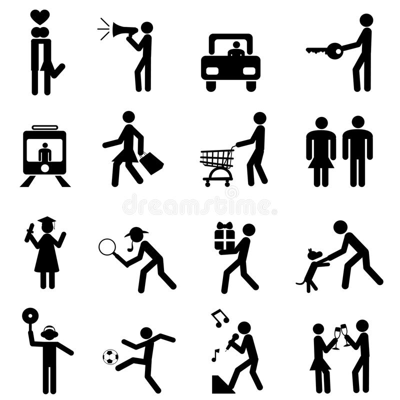 Download People pictogram stock vector. Image of symbol, background - 17078907