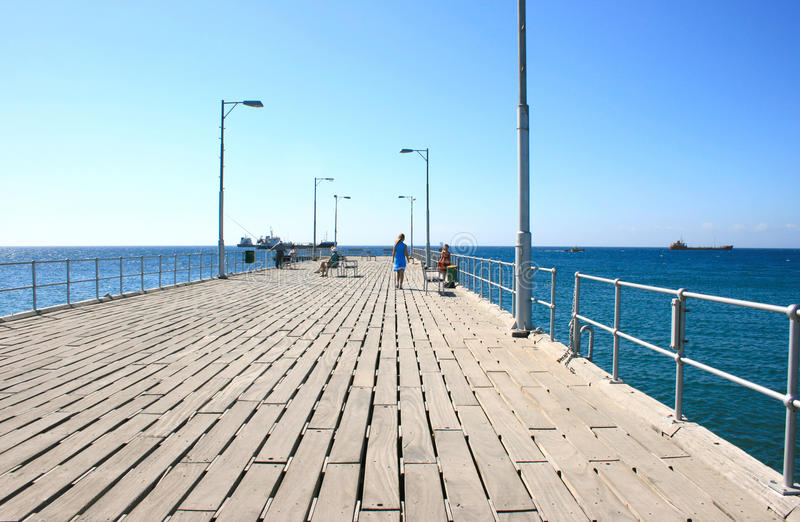 Download People on the pier stock photo. Image of cyprus, metallic - 14732270