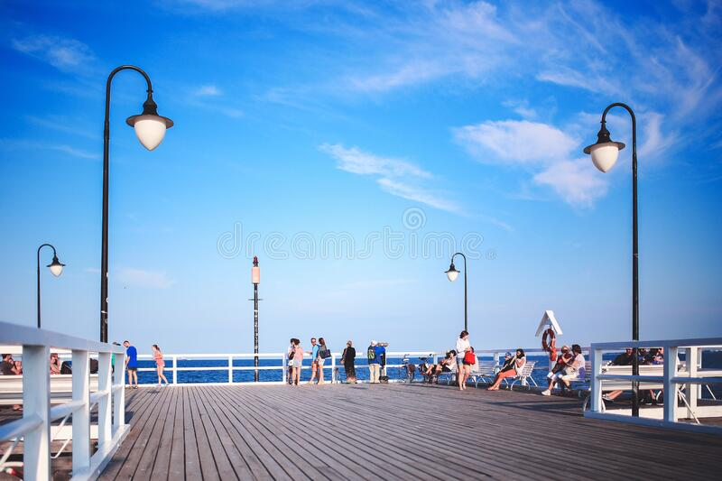 People On The Pier Free Public Domain Cc0 Image
