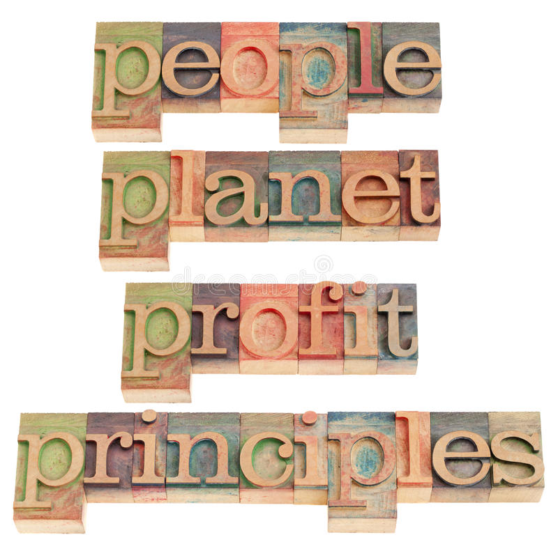 Download People, Planet, Profit, Principles Royalty Free Stock Photos - Image: 18710398