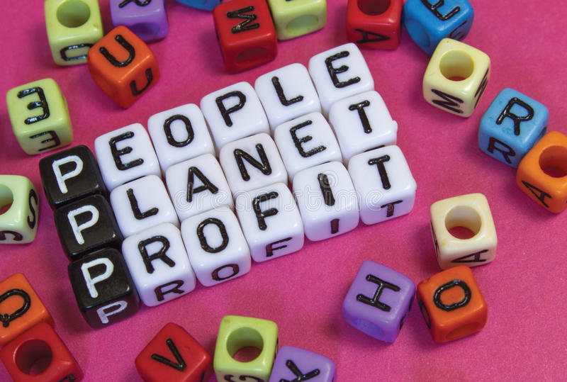 People Planet Profit stock image
