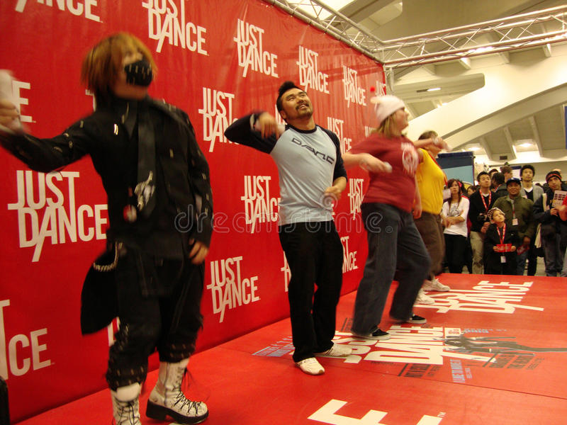 Download People Play Just Dance For The Wii On Stage Editorial Stock Photo - Image: 24131273