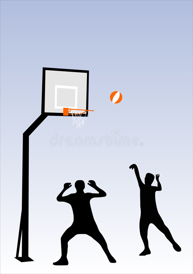 Download People playing basketball stock vector. Image of match - 2031573