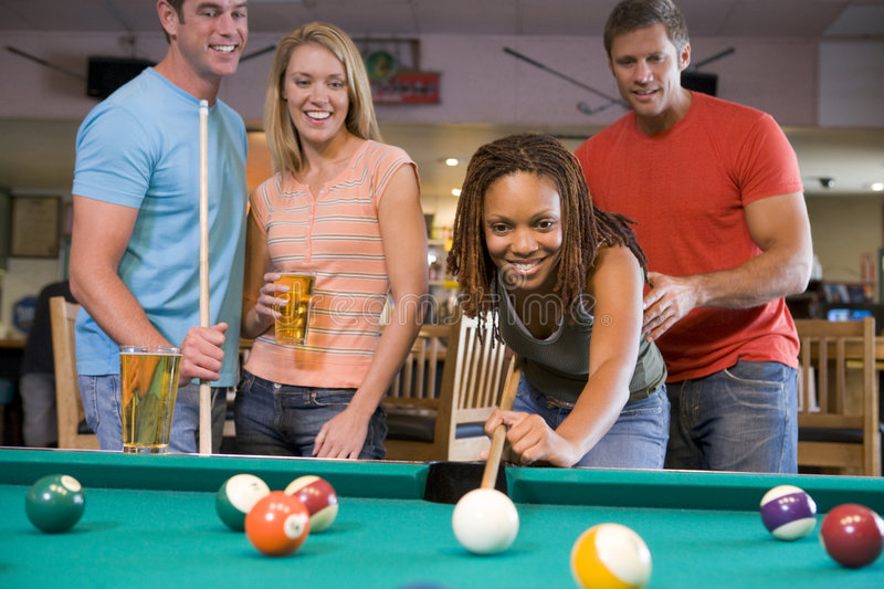 Download People Playing Billiards stock photo. Image of friendship - 5046180