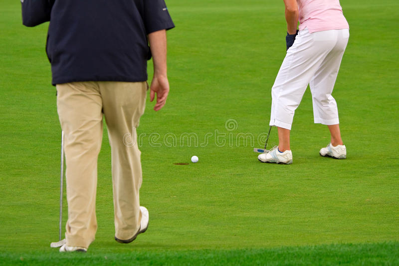 Download People playing golf stock image. Image of green, player - 18549933