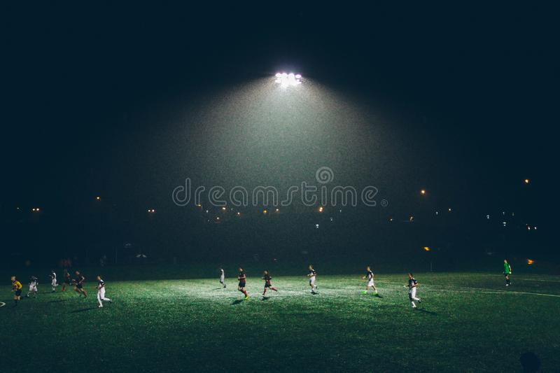 People Playing Soccer During Nighttime Free Public Domain Cc0 Image