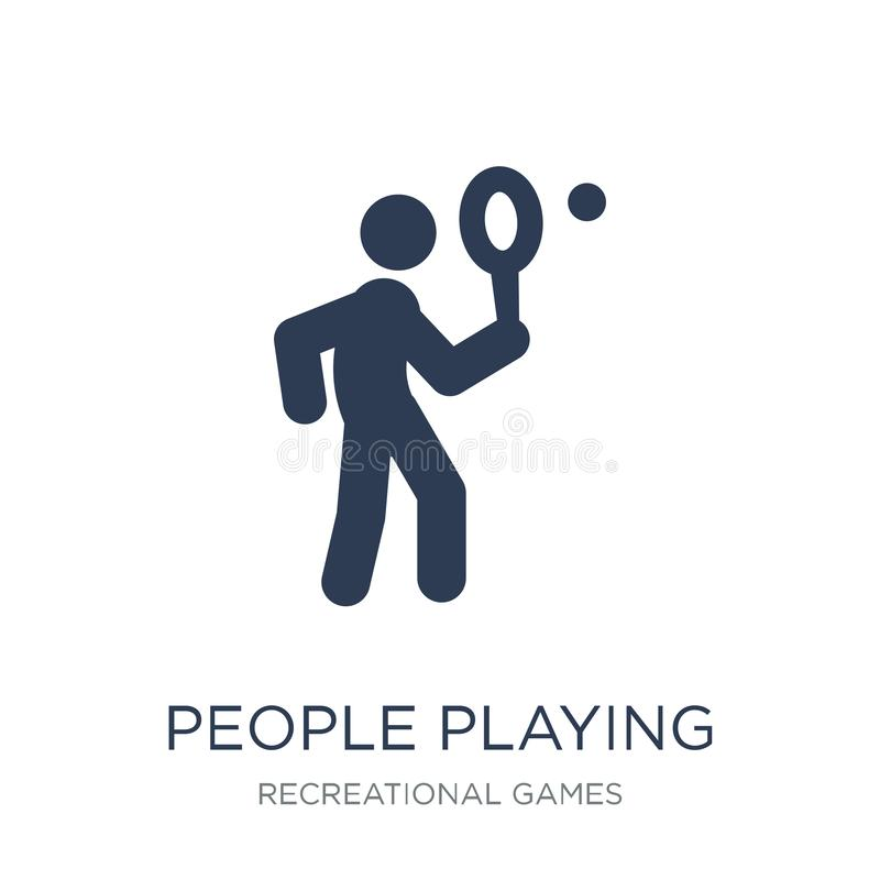 People playing Tennis icon icon. Trendy flat vector People playing Tennis icon on white background from Recreational games vector illustration