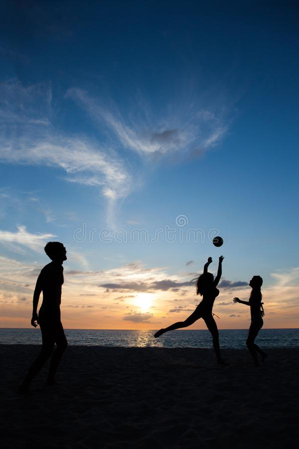 People playing volleyball stock photography