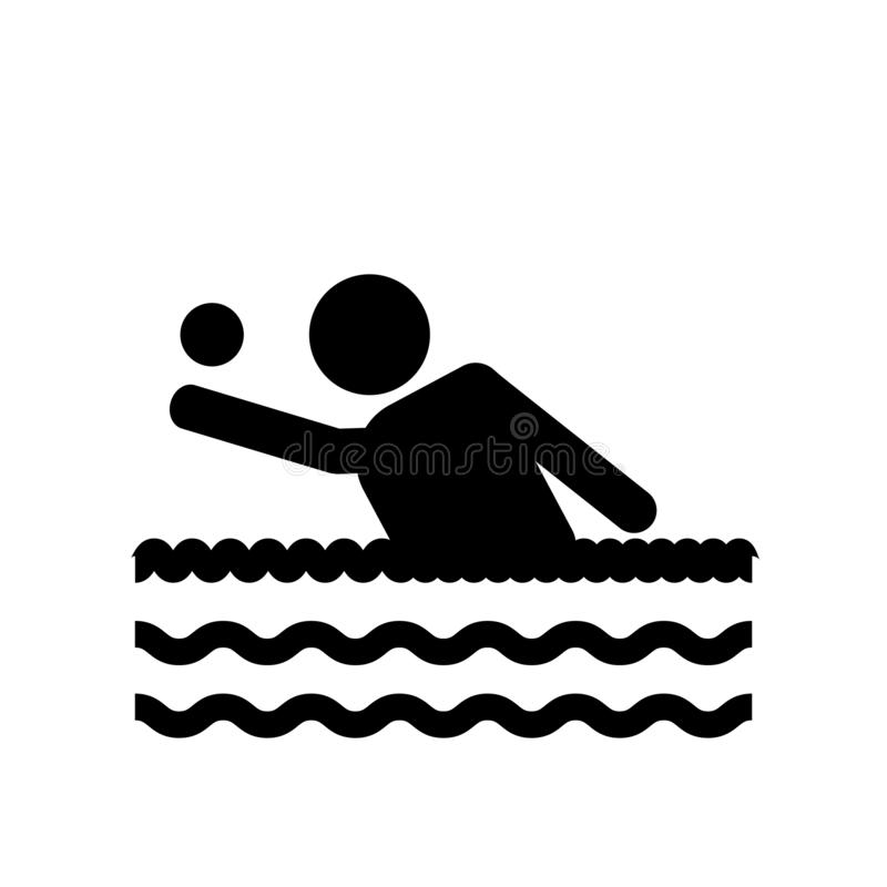 People playing Waterpolo icon icon. Trendy People playing Waterpolo logo concept on white background from Recreational games coll royalty free illustration