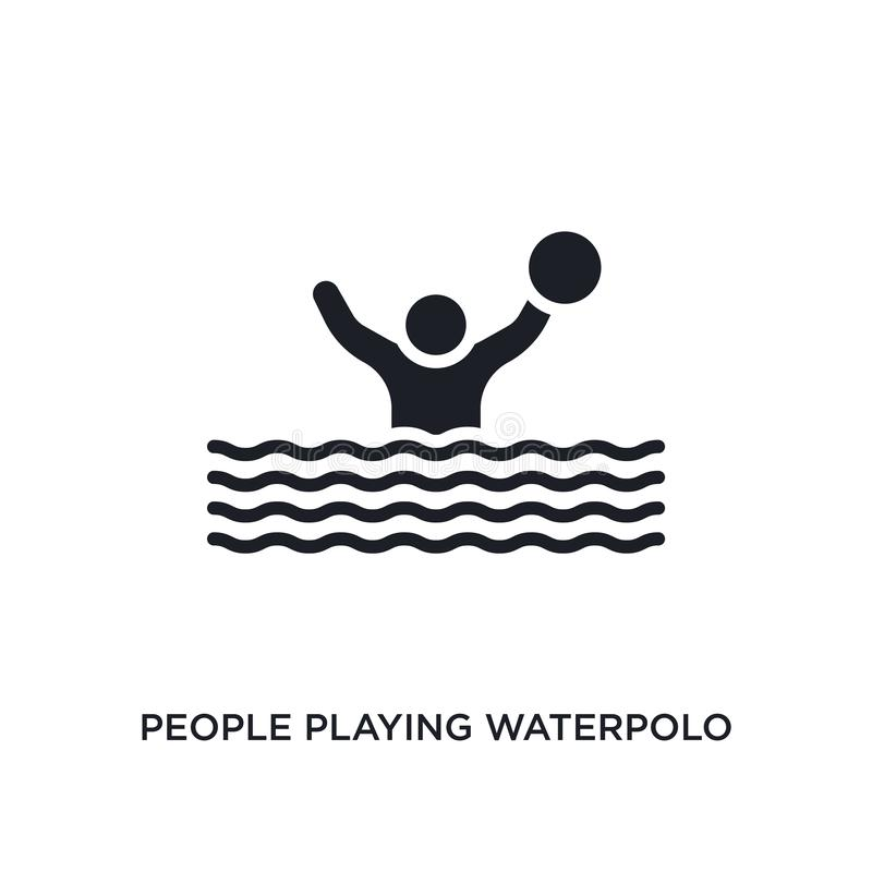 people playing waterpolo isolated icon. simple element illustration from recreational games concept icons. people playing stock illustration