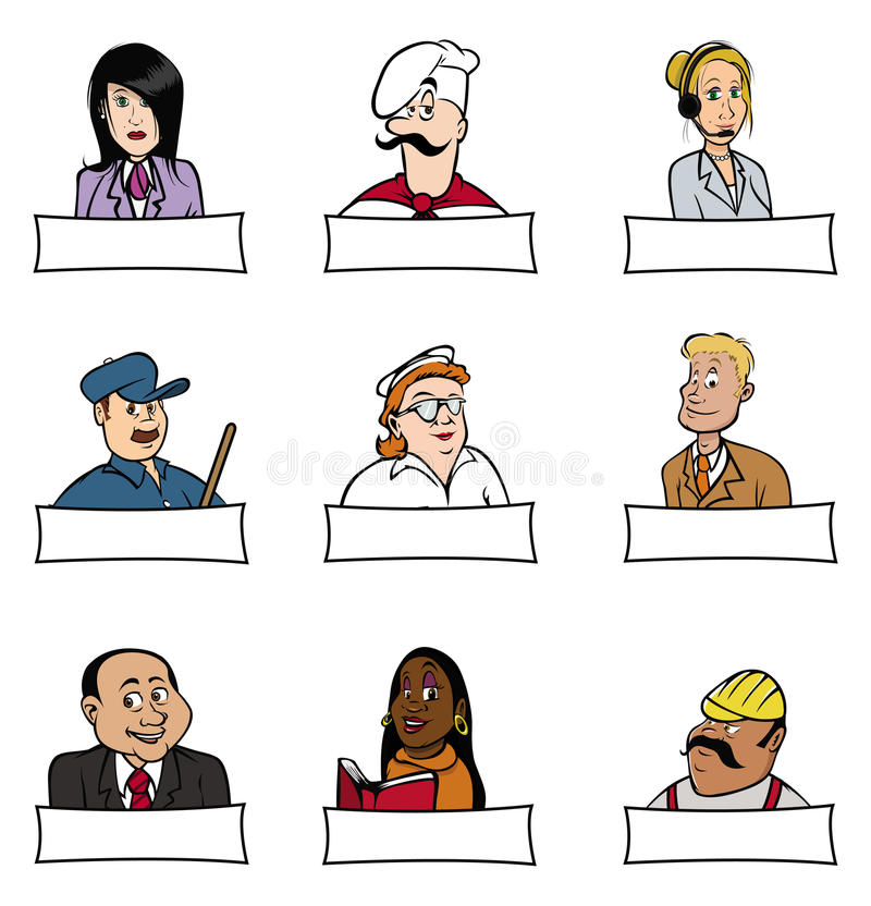 People professions 2 stock illustration