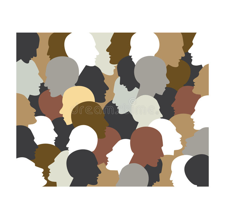 People profile heads. vector illustration