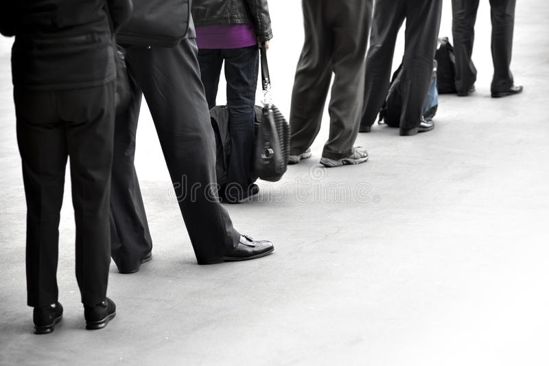 People in queue royalty free stock photos