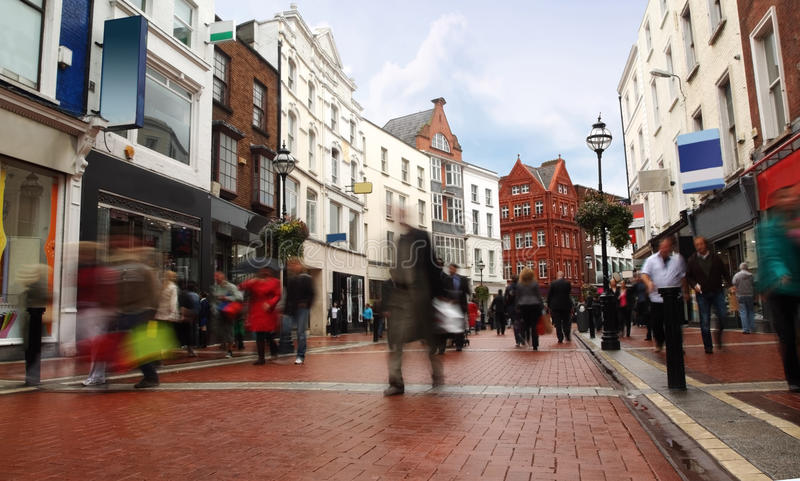 Download People Quickly Going On Small, Narrow Street Royalty Free Stock Images - Image: 16817369