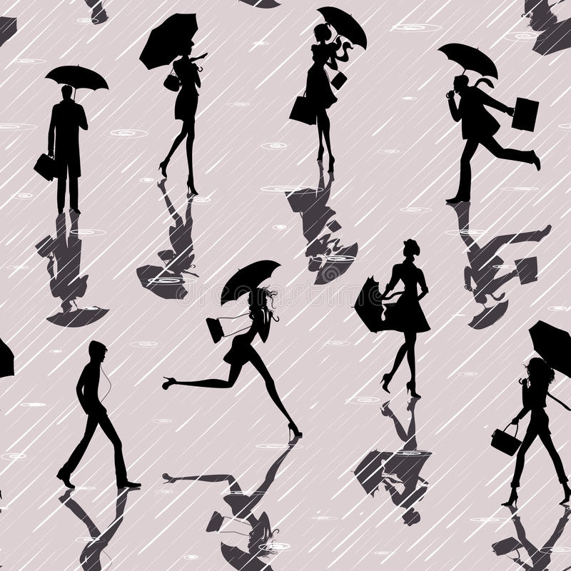 Download People In The Rain Royalty Free Stock Image - Image: 20782026
